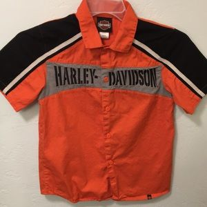 Harley Davidson button down short sleeves